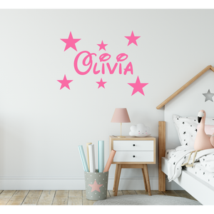 Personalised Disney Name Wall Sticker With Stars
