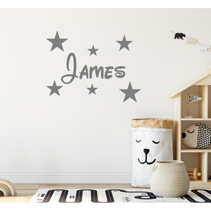 Personalised Disney Name Wall Sticker And Stars