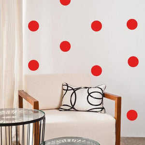 100 Polka Dots Wall Stickers Colourful Confetti, Wall Decals, Vinyl Murals, Envelope Sealers, Car, Office, Home Decor, Wallpaper