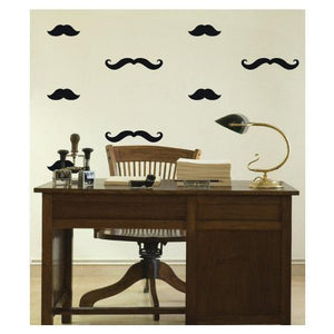 40 Mixed Mustache Wall Stickers Decals - Vinyl Wall Art Decoration Design For Home Decor UK. Mural, Wallpaper, Gift, Animal, Office, Gift-QuoteMyWall