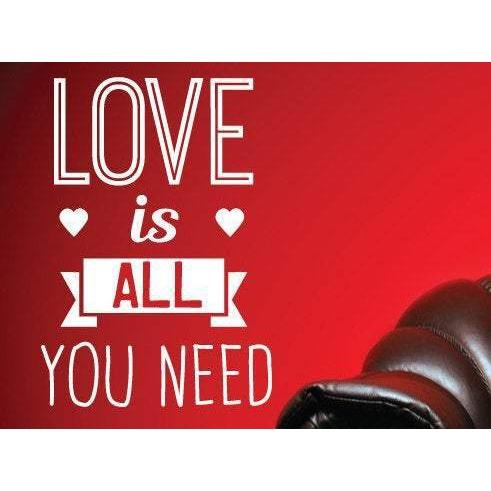 Love Is All You Need Wall Art Sticker Decal Quote - Vinyl Wall Sticker Design For Home Decor UK. Mural, Wallpaper, Gift Christmas Gift