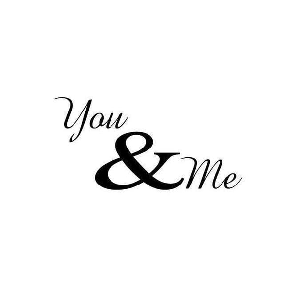You & Me Wall Art Sticker Quote - Vinyl Love Wall Decal Quote For Home, Office, Gift, Wallpaper, Decor, Relationship, Bedroom Christmas Gift-QuoteMyWall