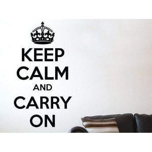 Keep Calm And Carry On Wall Sticker Decal Quote - Home Decor & Office Christmas Gift