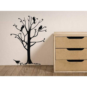 Birds In A Tree Large Nursery Wall Decal/Wall Art Sticker, Home Decor, Childrens Christmas Gift-QuoteMyWall