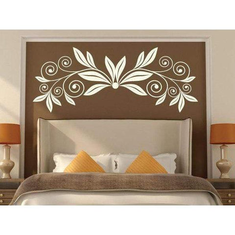Curly Flower Wall Art Sticker Decal, Large Floral Design Christmas Gift-QuoteMyWall