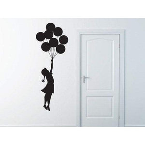 Banksy Vinyl Wall Decal/Sticker Flying Balloon Girl Christmas Gift-QuoteMyWall