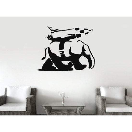 Banksy Vinyl Wall Decal/Sticker Landwalker Elephant Christmas Gift