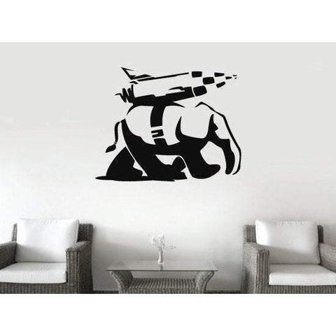 Banksy Vinyl Wall Decal/Sticker Landwalker Elephant Christmas Gift-QuoteMyWall