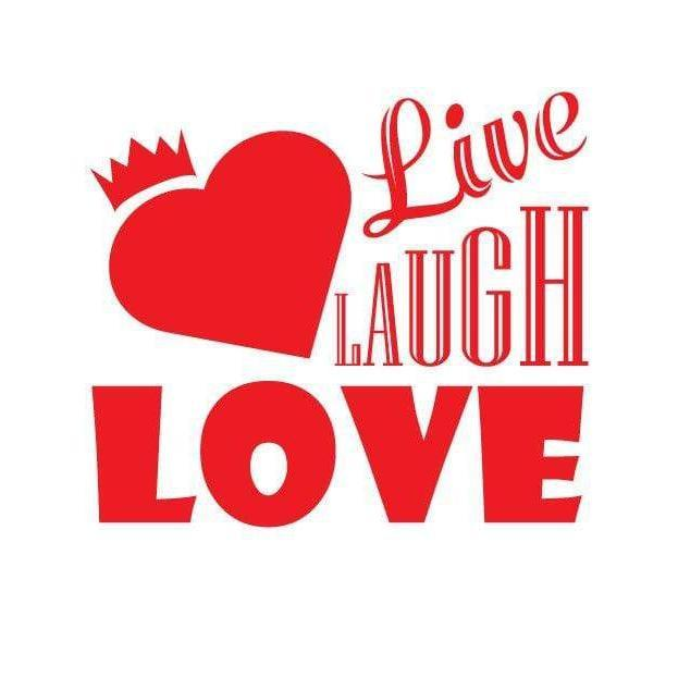 Live Laugh Love Heart Wall Art Sticker Quote - Vinyl Wall Decal Design For Home Decor UK. Mural, Wallpaper, Gift Christmas Gift