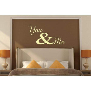 You & Me Wall Art Sticker Quote - Vinyl Love Wall Decal Quote For Home, Office, Gift, Wallpaper, Decor, Relationship, Bedroom Christmas Gift