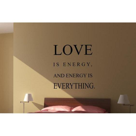Love Is Energy Wall Art Sticker Quote - Vinyl Love Wall Decal Quote For Home Decor, Office, Gift, Wallpaper, Decor, Bedroom Christmas Gift