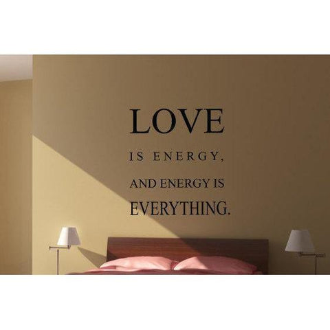 Love Is Energy Wall Art Sticker Quote - Vinyl Love Wall Decal Quote For Home Decor, Office, Gift, Wallpaper, Decor, Bedroom Christmas Gift-QuoteMyWall