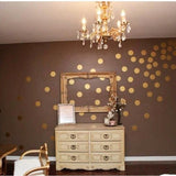 100 Gold Pola Dot Wall decals, Polka Dot Stickers, Nursery Wall Stickers, Polka Dot Decals, Polka Wall Stickers, Gold Wall Decals, Wall Art