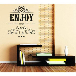 Enjoy The Little Things Wall Sticker Art Quote - Vinyl Wall Decal For Home Decor, Office, Gift, Wallpaper, Decor, Bedroom, House-QuoteMyWall