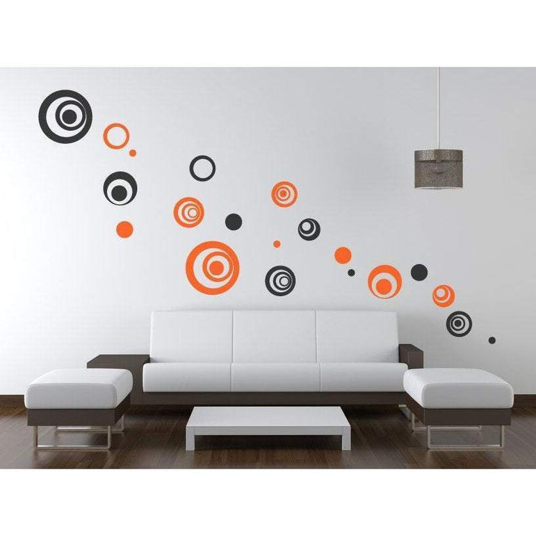 Circle/Polka dot Wall Decals/Wall Art Stickers - Vinyl Abstract Circle Pack, Bedroom, Office,  Home Wall Decor, Pack Of 10 Christmas Gift