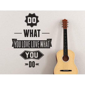 Wall Sticker Quote Do What You Love, Love What You Do, Motivational Art Vinyl Design For Home Decor, Office Christmas Gift