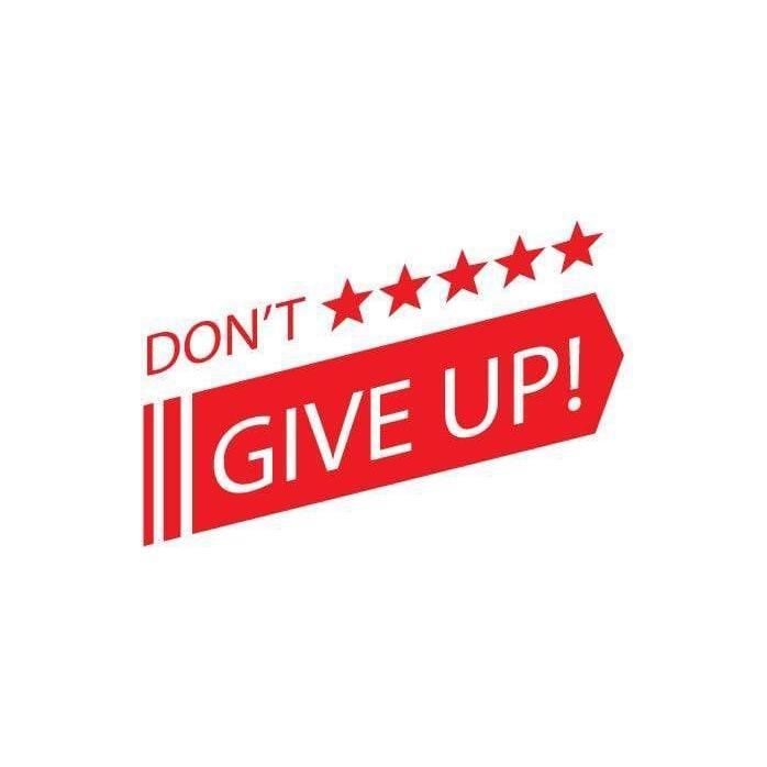 Motivational Wall Art Sticker Quote, Don't Give Up Wall Decal For School/College/Office/Home Decor Christmas Gift