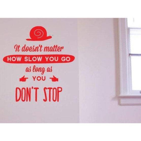 Motivational Wall Sticker Decal Quote, Don't Stop. Art Gift For Home Decor Christmas Gift-QuoteMyWall