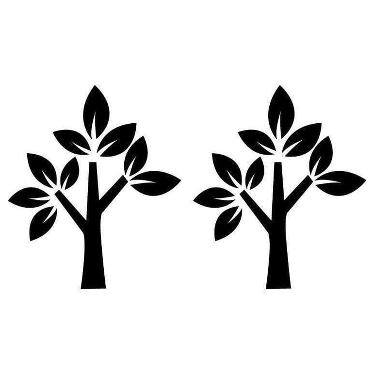 2 Tree Wall Decal Stickers For Home Decor Christmas Gift