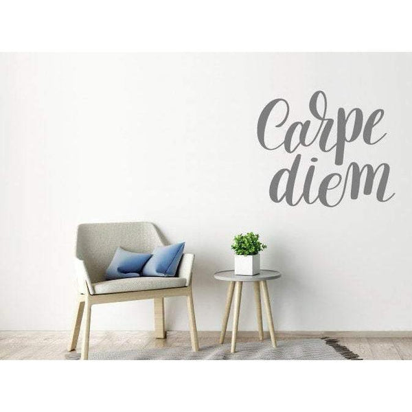 Wall Decal/Wall Sticker Quote - Carpe Diem - Wall Art Quote, Home Decor, Mural, Wallpaper Christmas Gift-QuoteMyWall