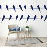 Large Wall Stickers Birds On Phone Wire Line - Vinyl Wall Art Decor For Home/Office - Animal Wall Decals Christmas Gift