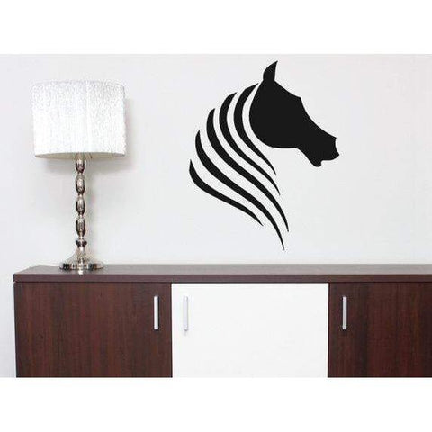 Animal Wall Decal/Vinyl Wall Sticker Horse Head Abstract - Home, Bedroom Modern Wall Art Decor Christmas Gift-QuoteMyWall