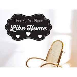 There's No Place Like Home Wall Art Sticker Quote - Vinyl Wall Decal Design For Home Decor UK. Mural, Wallpaper, Gift Christmas Gift