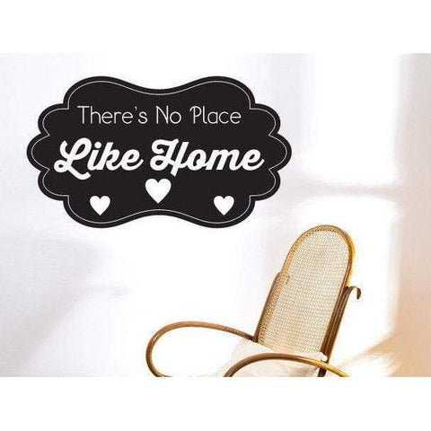 There's No Place Like Home Wall Art Sticker Quote - Vinyl Wall Decal Design For Home Decor UK. Mural, Wallpaper, Gift Christmas Gift-QuoteMyWall