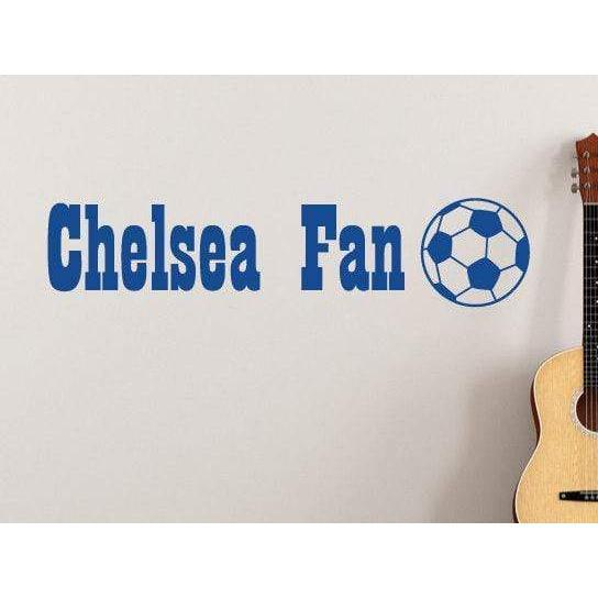 Custom Personalised Name Wall Decal/Childrens Wall Art Sticker - Football/Soccer Team Name For Kids Christmas Gift