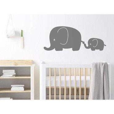 Elephant Nursery Wall Decal, Wall Art Sticker/Decor For Childrens Bedroom - Animal Wallpaper Christmas Gift