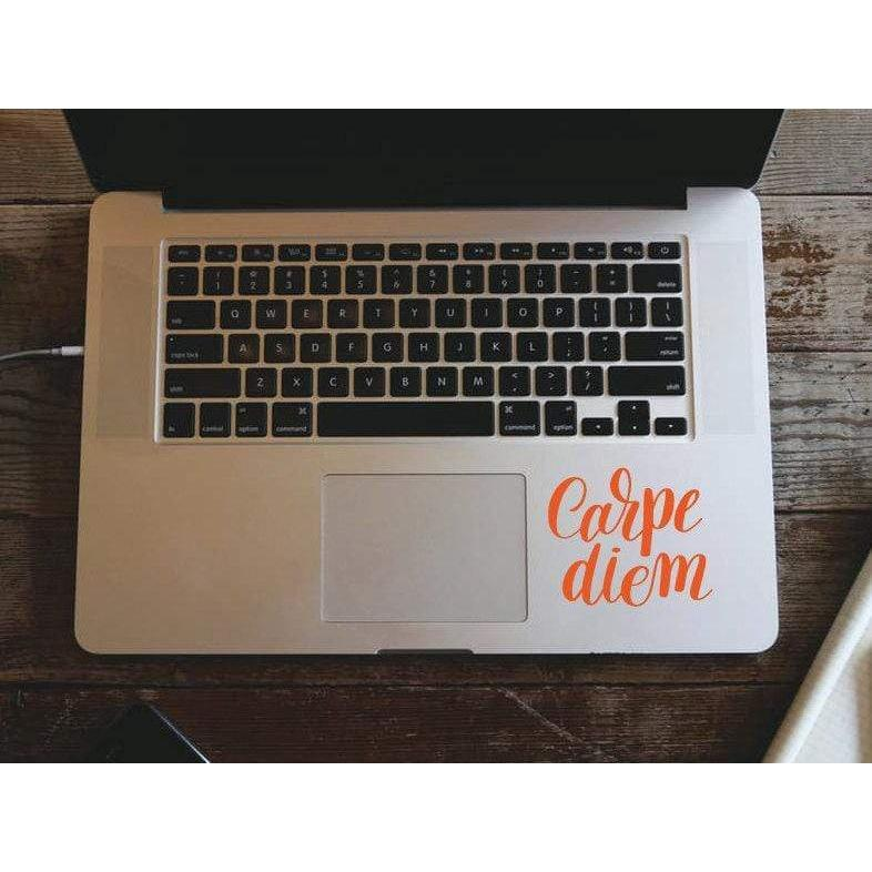 Macbook Decal Sticker Carpe Diem, Mac Decal, Motivational Decal - Removable Vinyl Laptop/iPad Stickers Christmas Gift