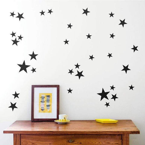 120 Vinyl Stars Nursery Wall Decals, Nursery Wall Stickers, Childrens Bedroom Baby Decor, Vinyl, Star Stickers, Star Decals, Wallpaper-QuoteMyWall