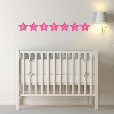 Custom Wall Sticker - Girls Name Stars Nursery Wall Sticker/Bedroom Wall Decal - Personalised Wall Art Christmas Gift