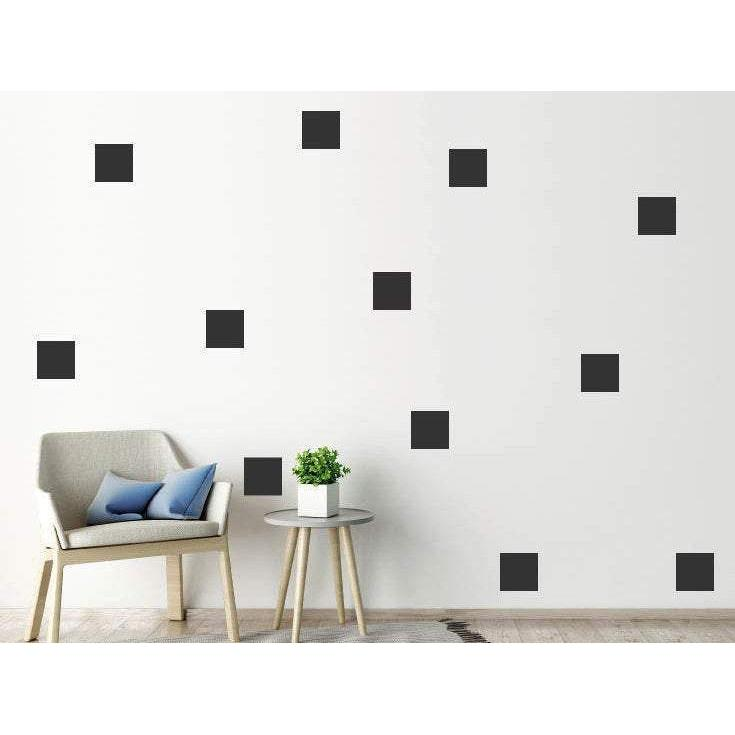 100 Squares Wall Stickers/Wall Decals For Home Decor/Nursery/Office - Wallpaper Mural Wall Art Christmas Gift