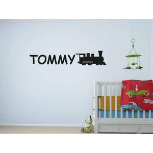 Custom Wall Sticker - Boys/Girls Name & Train Nursery Wall Sticker/Bedroom Wall Decal - Personalised Wall Art Christmas Gift