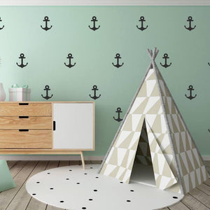 48 Anchor Wall Stickers, Kids Wall Stickers, Nursery Wall Decals, Confetti Wall Decal, Vinyl Wall Confetti, Wallpaper Murals, Kids Stickers