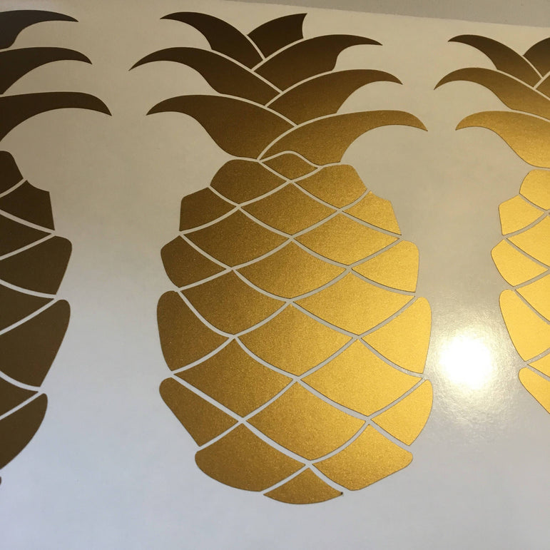 Pineapple Wall Decals Pineapple Wall Stickers Gold Stickers Wall Art Home Decor Ideas Decoration Wall Decor Pineapple Stickers Food Golden