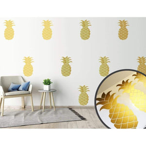 Gold Wall Stickers, Wall Decals, Pineapple Wall Stickers, Wall Art, Vinyl Wall Decal, Wall Decor, Home Decor, Murals, Wallpaper, Decals