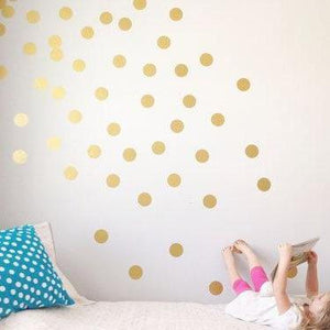 100 Gold Dot Wall Decals, Gold Wall Decals, Pattern Wall Decal, Gold Polka Dots, Polka Dot Decal, Polka Dot Decor, Removeable Decal, Art