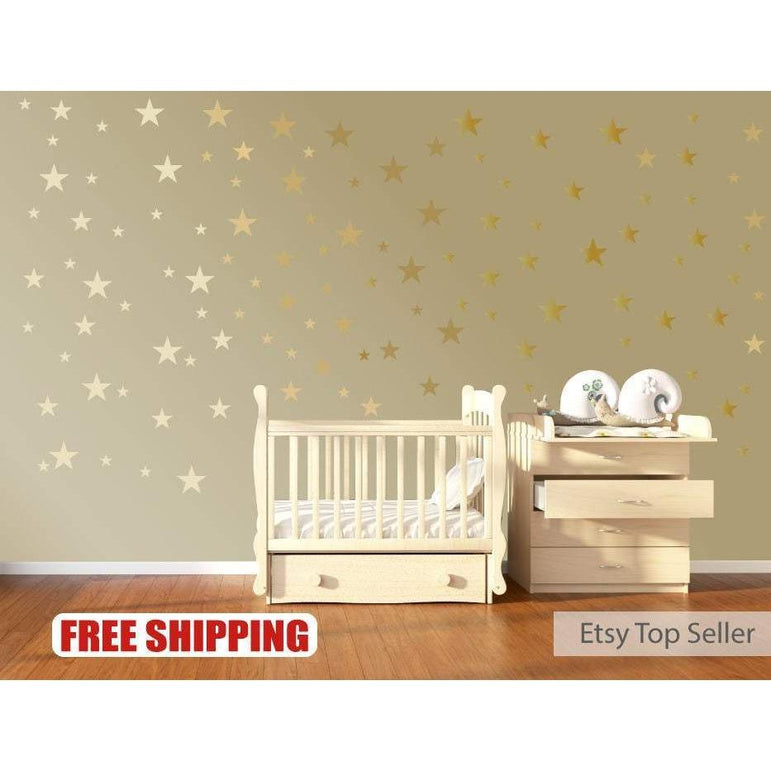 Nursery Wall Stickers, Star Wall Decals, Star Wall Stickers, Childrens Wall Decor, Nursery Wall Art, Nursery Decals, Nursery Stickers, Gift