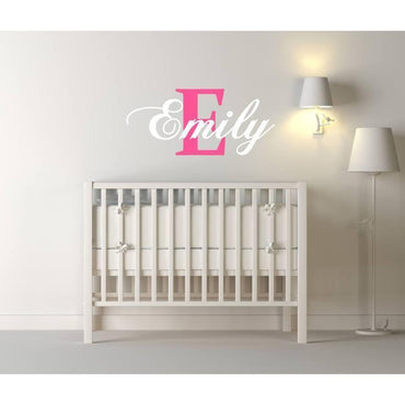 Nursery Name Decal, Nursery Name Sticker, Custom Name Decal, Custom Name Sticker, Pink Decal, White Decal, Personalised, Name Stickers, Art