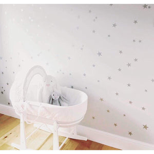 Star Wall Stickers Star Wall Decals Nursery Wall Stickers Silver Wall Stickers Silver Wall Decals Stars Stickers Nursery Wall Art Decor