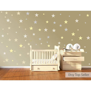 120 Vinyl Stars Nursery Wall Decals, Nursery Wall Stickers, Childrens Bedroom Baby Decor, Vinyl, Star Stickers, Star Decals, Wallpaper