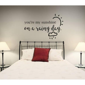 Bedroom Wall Sticker Quote,Sunshine, Love Quote , Wall Decal, Wall Sticker, Wall Quote, Quote, Wall Art, Wallpaper, Home Decor, Mural-QuoteMyWall