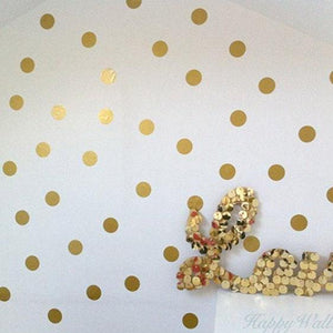 100 Gold Dot Wall Decals, Gold Dot Wall Stickers, Gold Polka Dots, Polka Dot Stickers, Polka Dot Decals, Home Decor, Wall Art Stickers