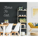 Time To Eat Wall Sticker Quote, Wall Decal Quote, Wall Art Quote, Wall Decor, Wall Art, Dining Room Decor, Kitchen Wall Stickers, Wall Decal