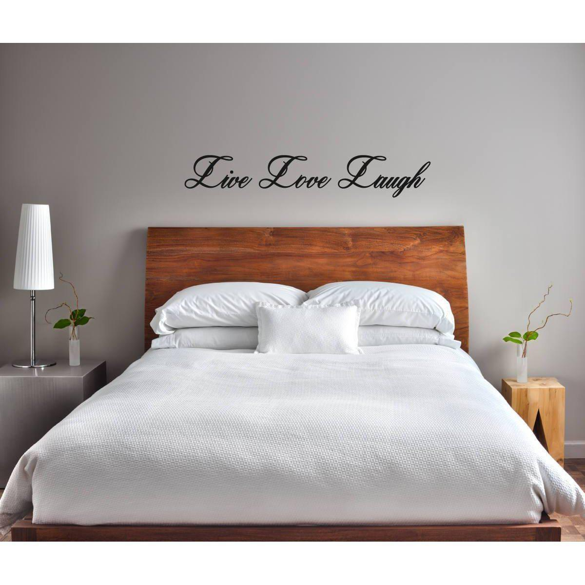 Live Love Laugh Wall Sticker Quote, Bedroom Wall Sticker, Bedroom Wall Decal, Wall Art Quote, Love Quote, Wall Art, Quote, Art, Home Decor