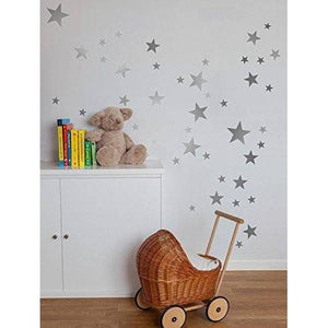 Star Wall Stickers, Star Wall Decals, Stars Stickers, Nursery Wall Decals, Nursery Wall Art, Silver Stars, Gold Stars, White Stars, Wall Art