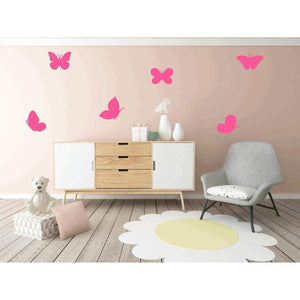 6 Large Butterfly Nursery Wall Stickers Nursery Wall Decals Kids Wall Stickers Butterfly Wall Art Nursery Wall Art Gift 36 Colours