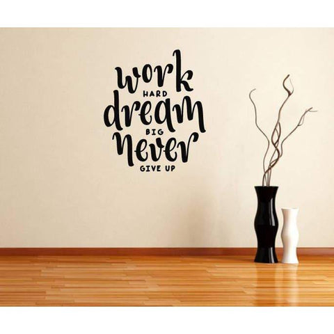 Wall Decal Quote, Motivational Quote, Inspirational Quote, Work Hard, Wall Art Quote, Wall Sticker Quote, Wall Quote, Wall Art, Home Decor-QuoteMyWall